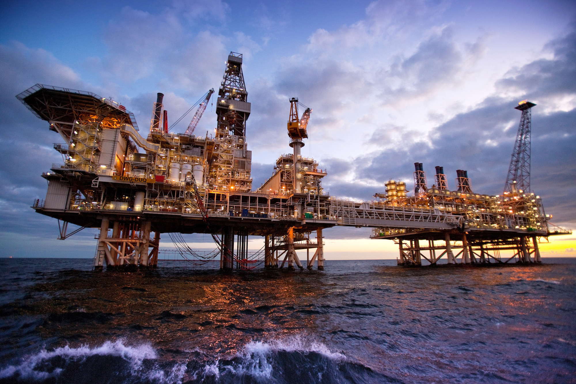 Azerbaïdjan - plateforme pétrolière offshore