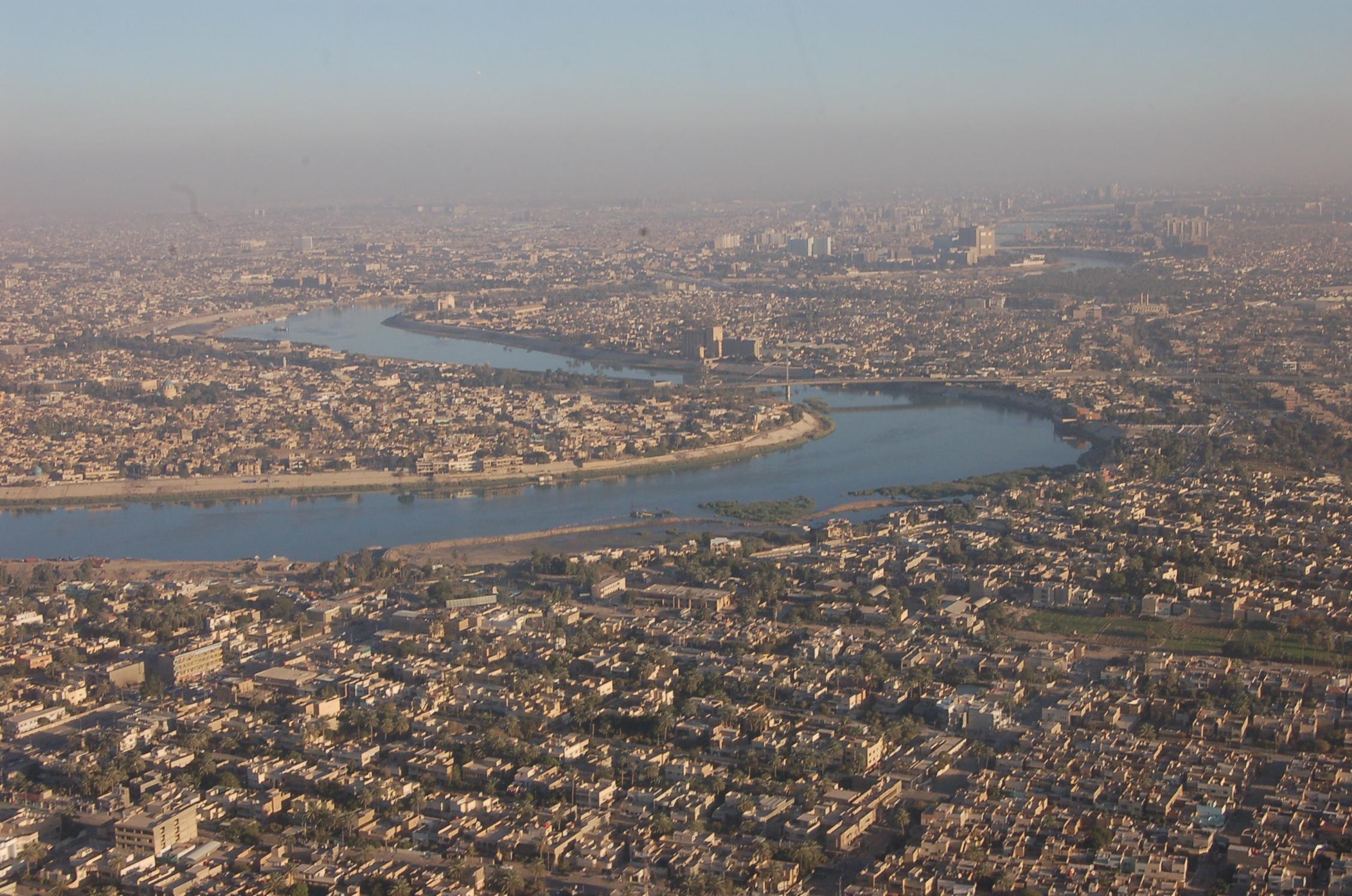 Panorama de Bagdad, capitale de l'Irak
