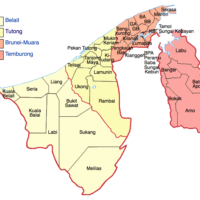 Brunei – districts