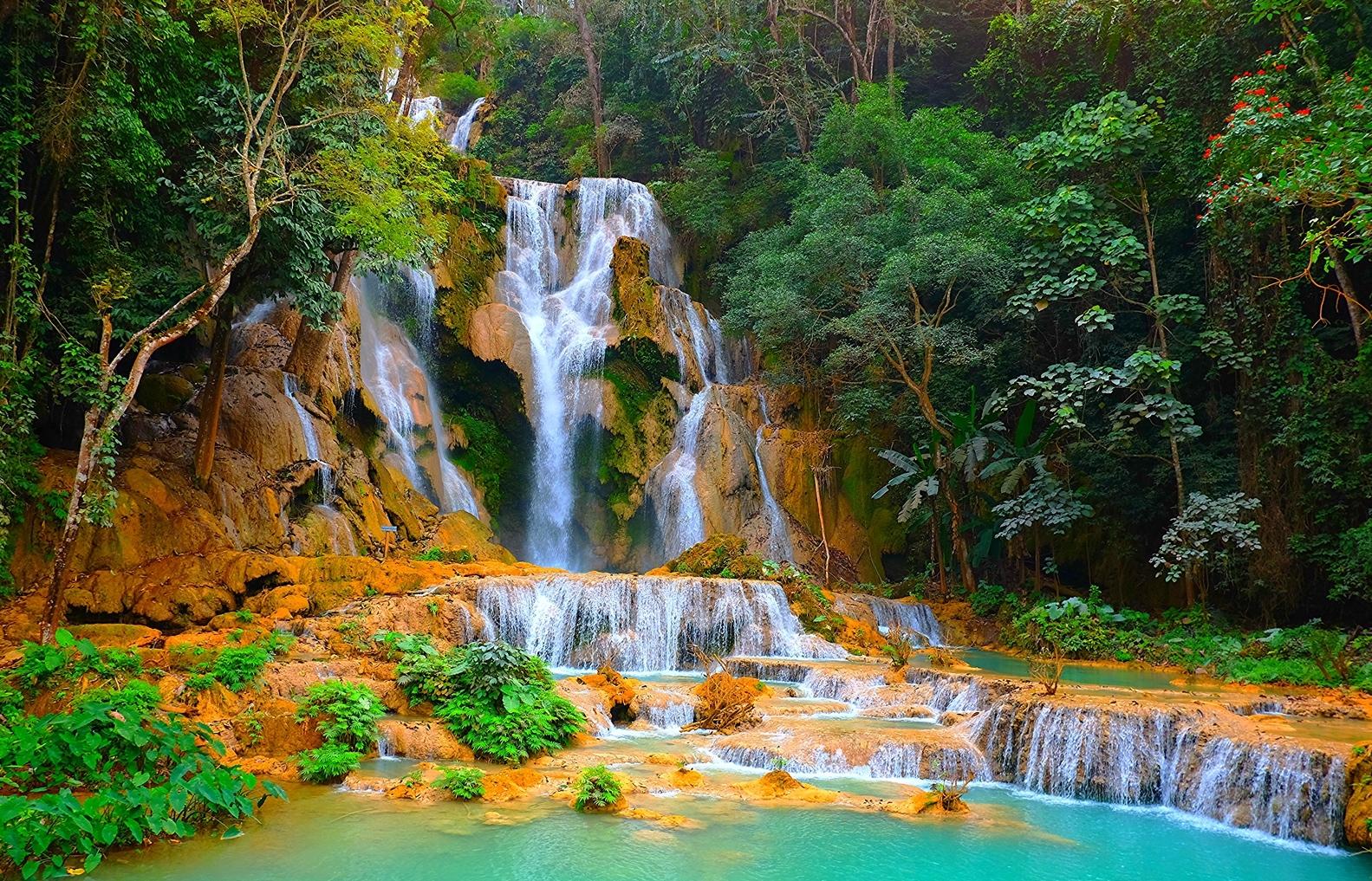 Chutes Kouang Si, Laos