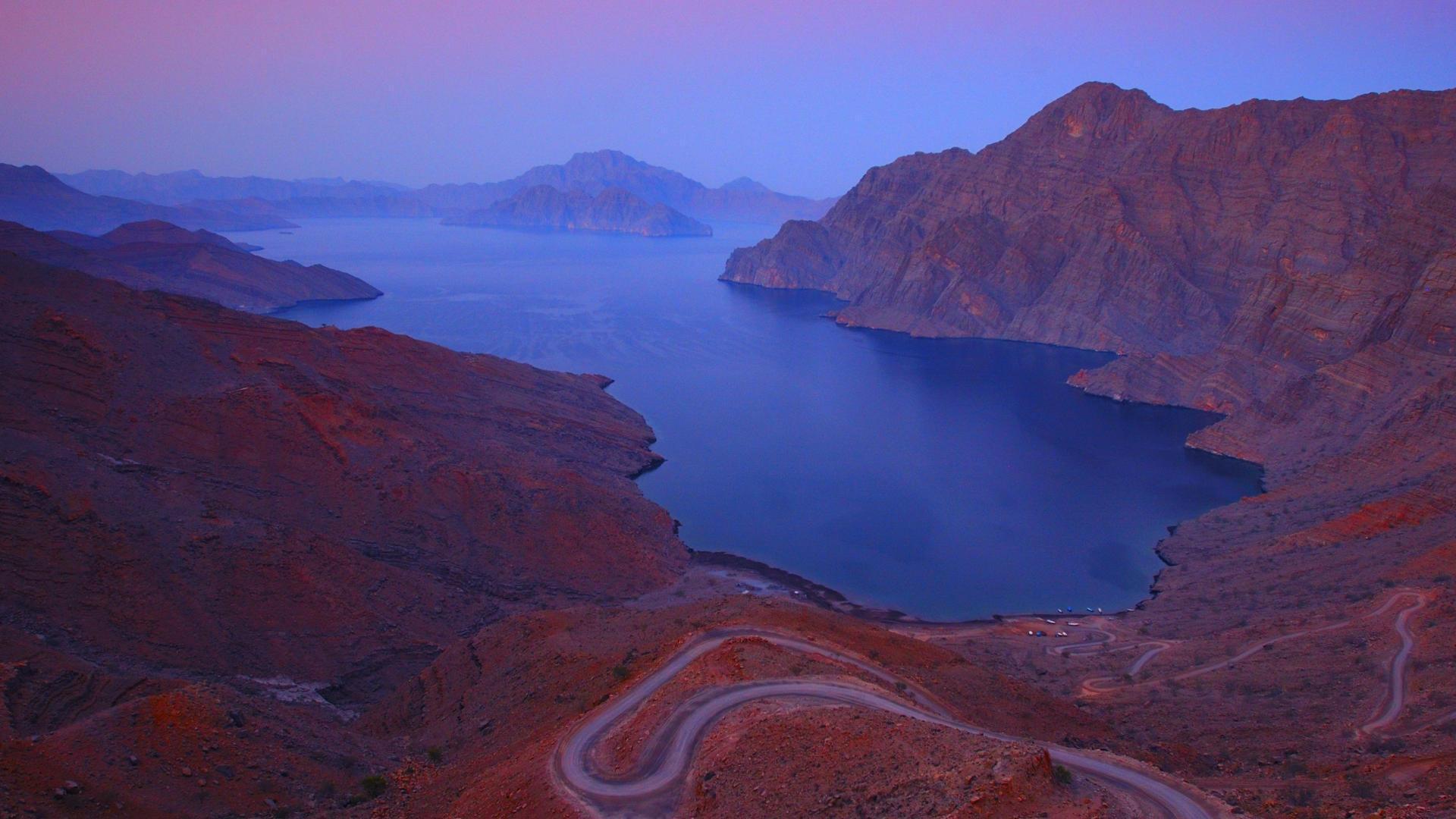 Fjord Khor Njad, Oman