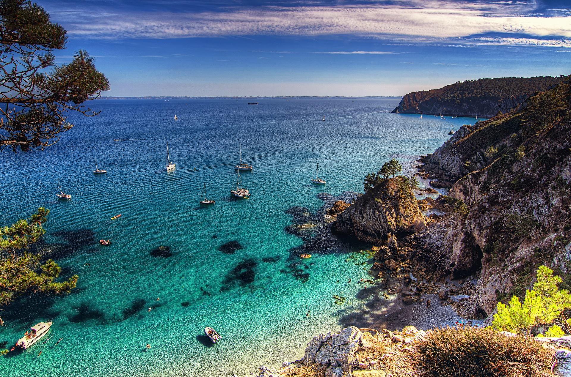 Île Vierge, Bretagne, France.
