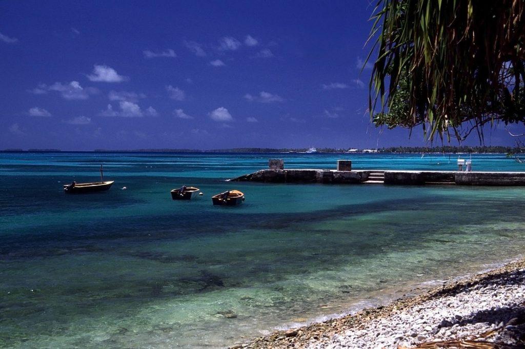 Plage à Funafuti, Tuvalu
