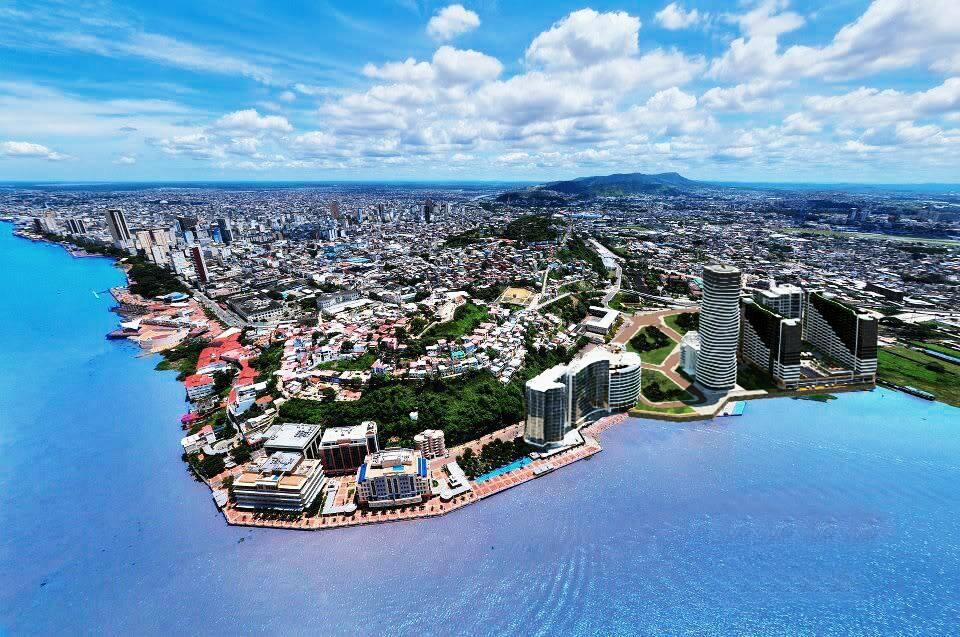 Guayaquil, principale métropole de l'Équateur.