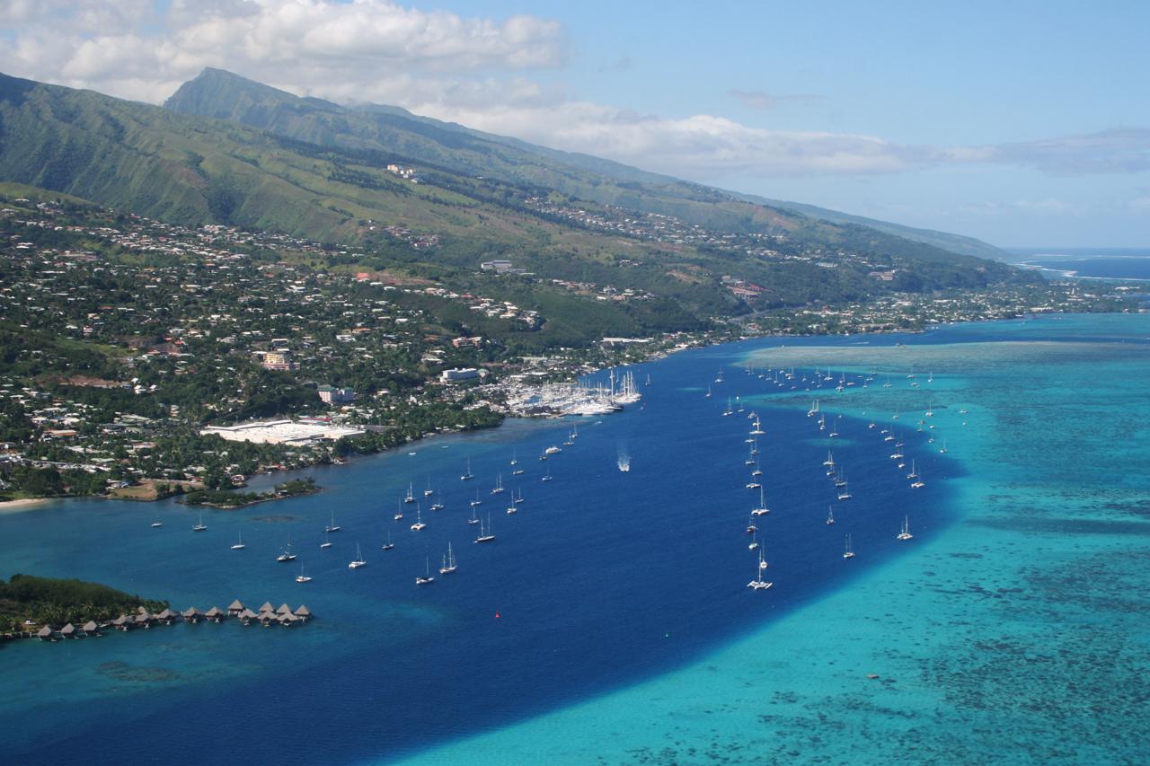 Marina Taina, à Papeete, Tahiti, Polynésie française