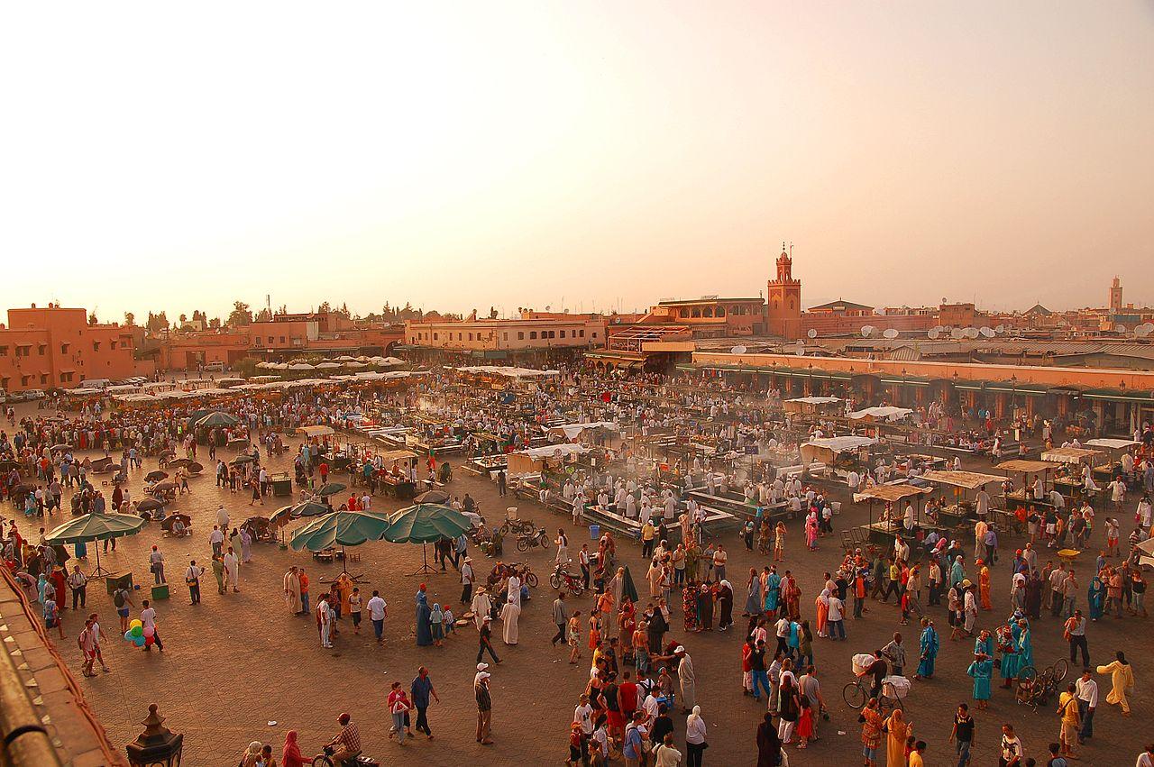 Marché Jemma el-Fna, Marrakech, Maroc
