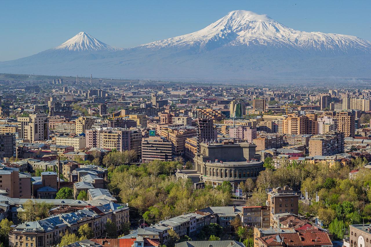Mont Ararat vu depuis Erevan, capitale de l'Arménie
