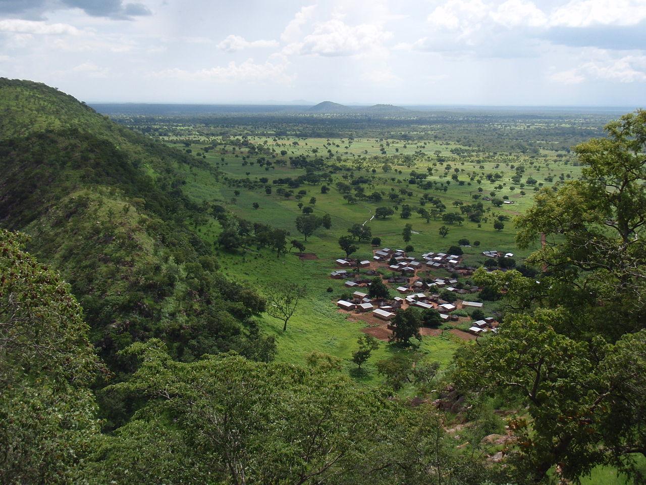 Vue depuis les montagnes de l'Atakora, nord du Bénin