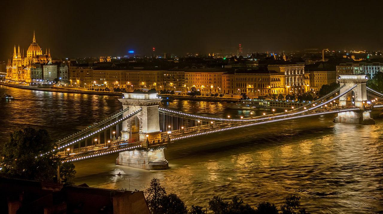 Pont des chaînes Széchenyi, Budapest, Hongrie.
