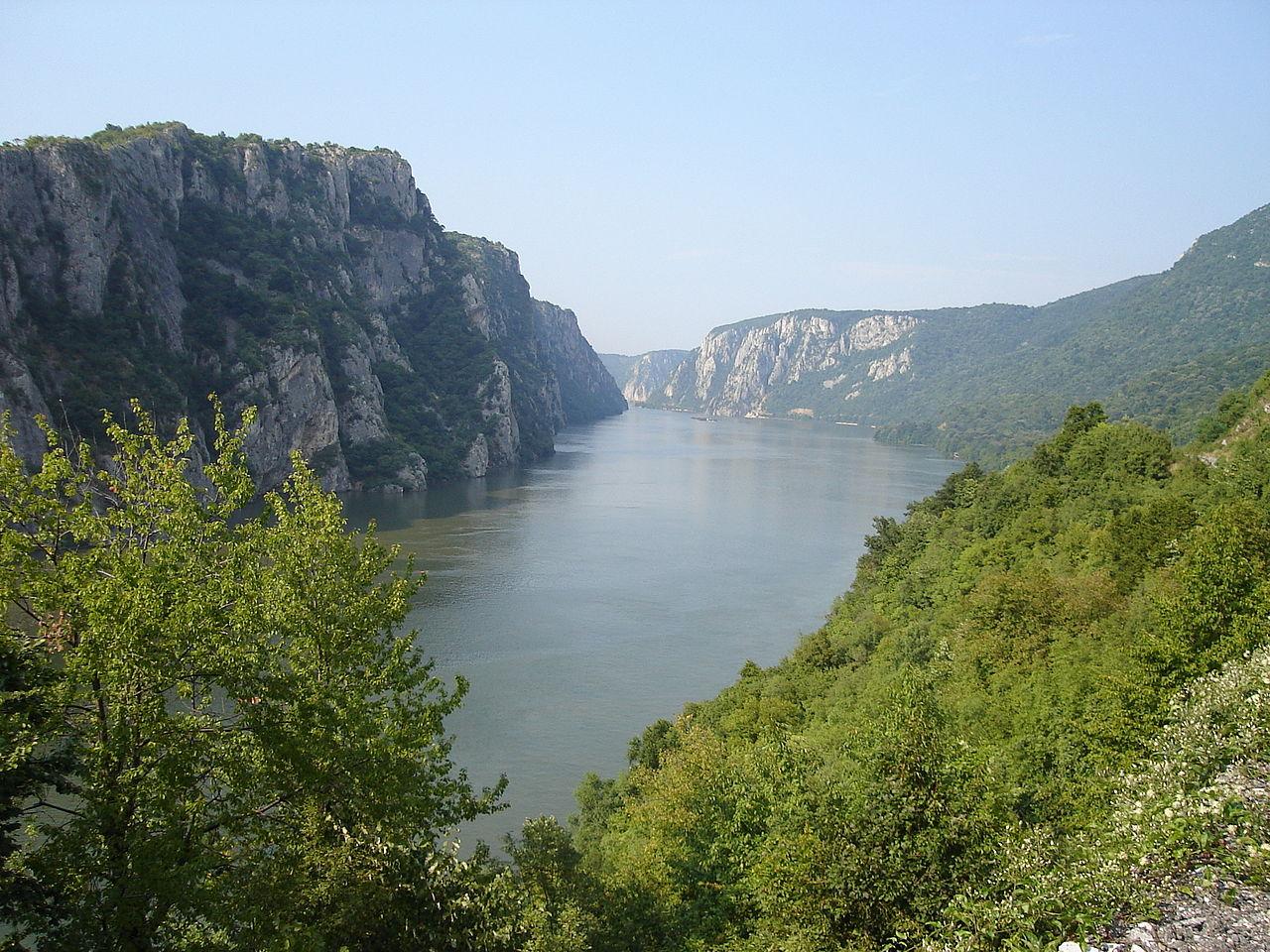 Portes de Fer sur le fleuve Danube, Roumanie