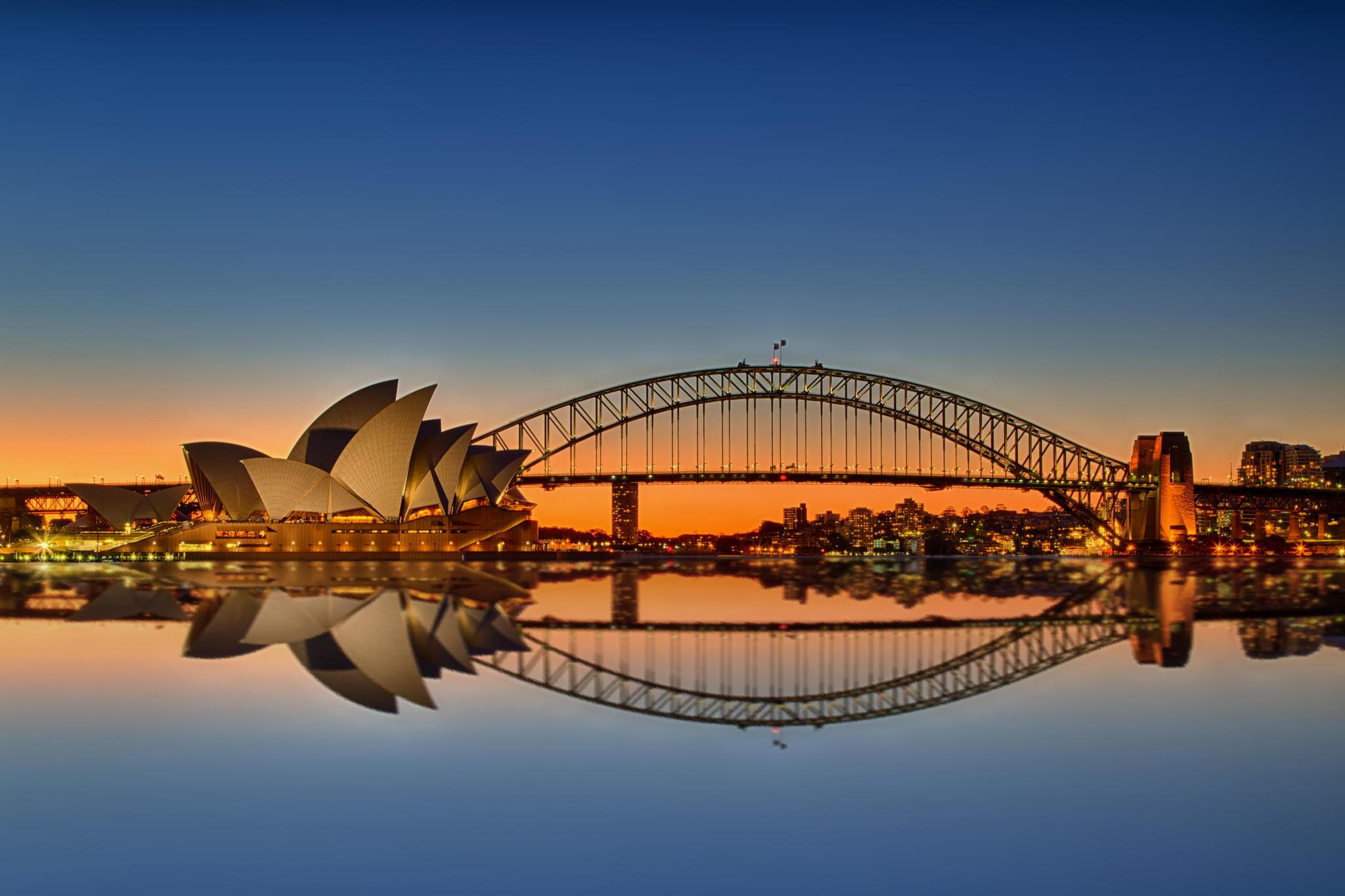 Sydney : Opéra et Harbour Bridge