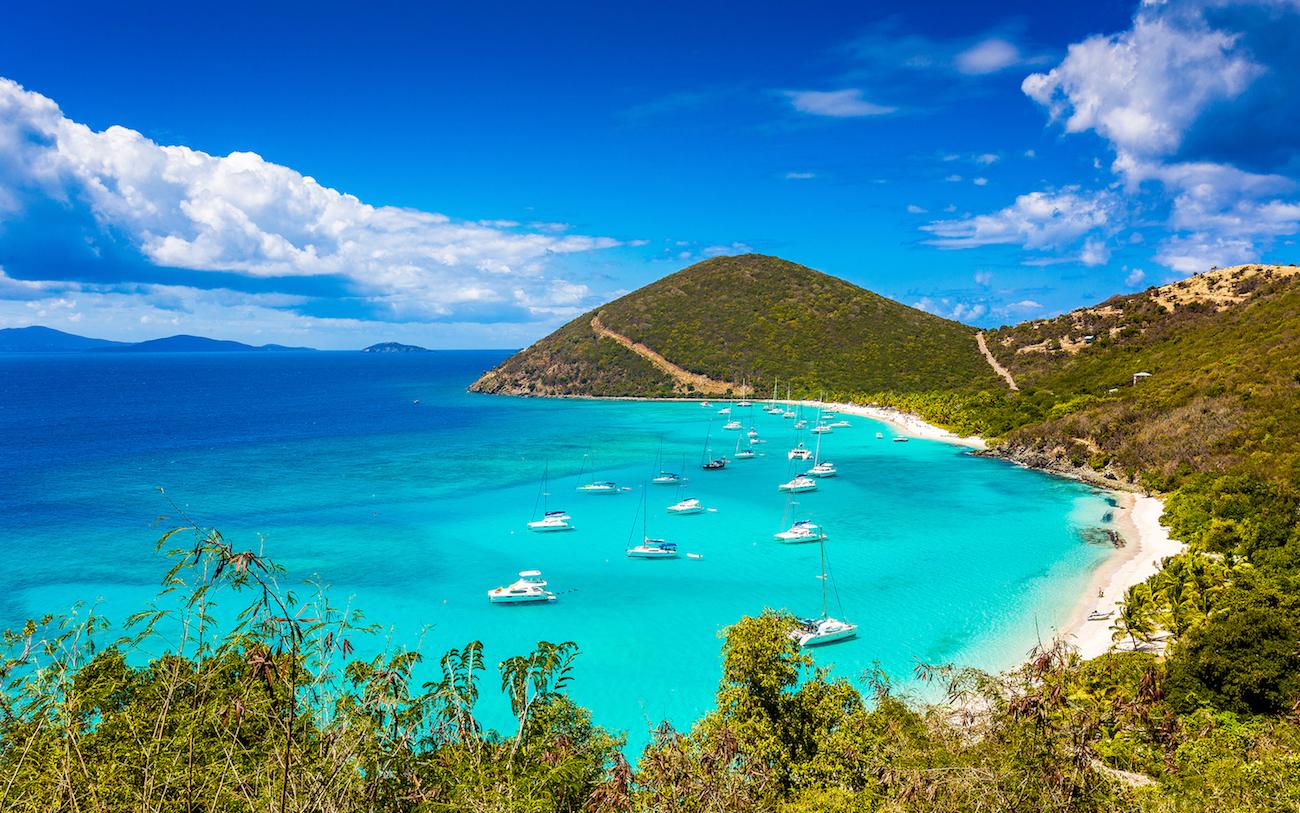 White Bay, Jost Van Dyke, îles Vierges britanniques