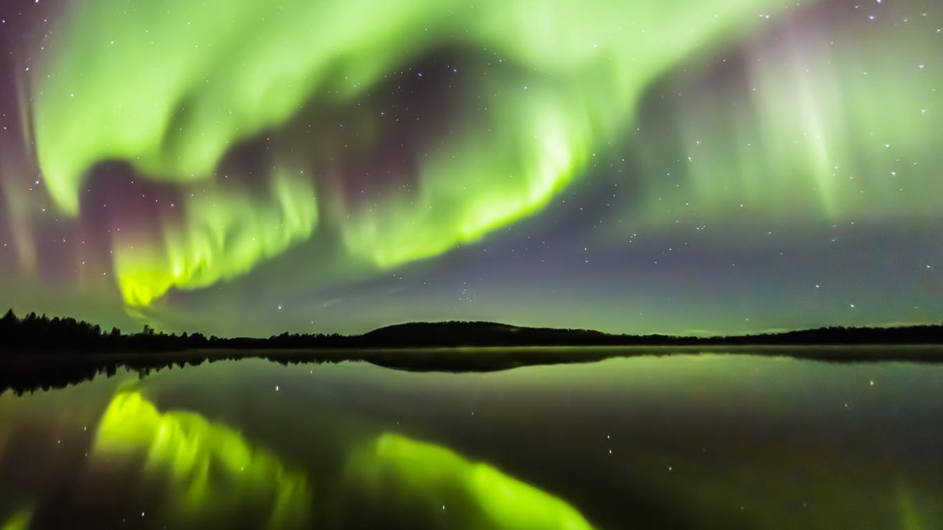 Aurore boréale, Finlande