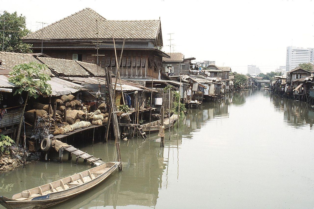Bangkok : canaux. Thaïlande.