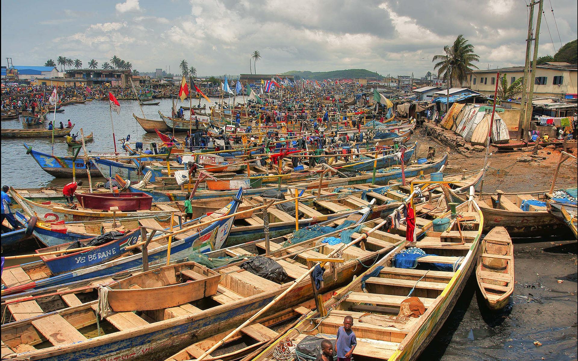 Port de pêche, Ghana