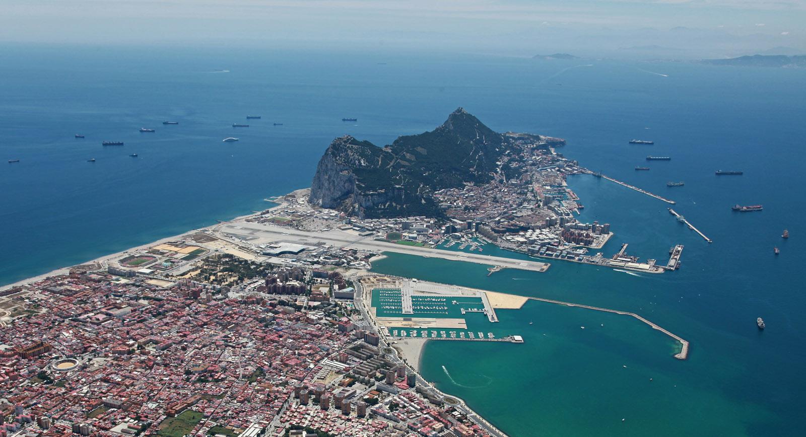 Gibraltar et sa baie