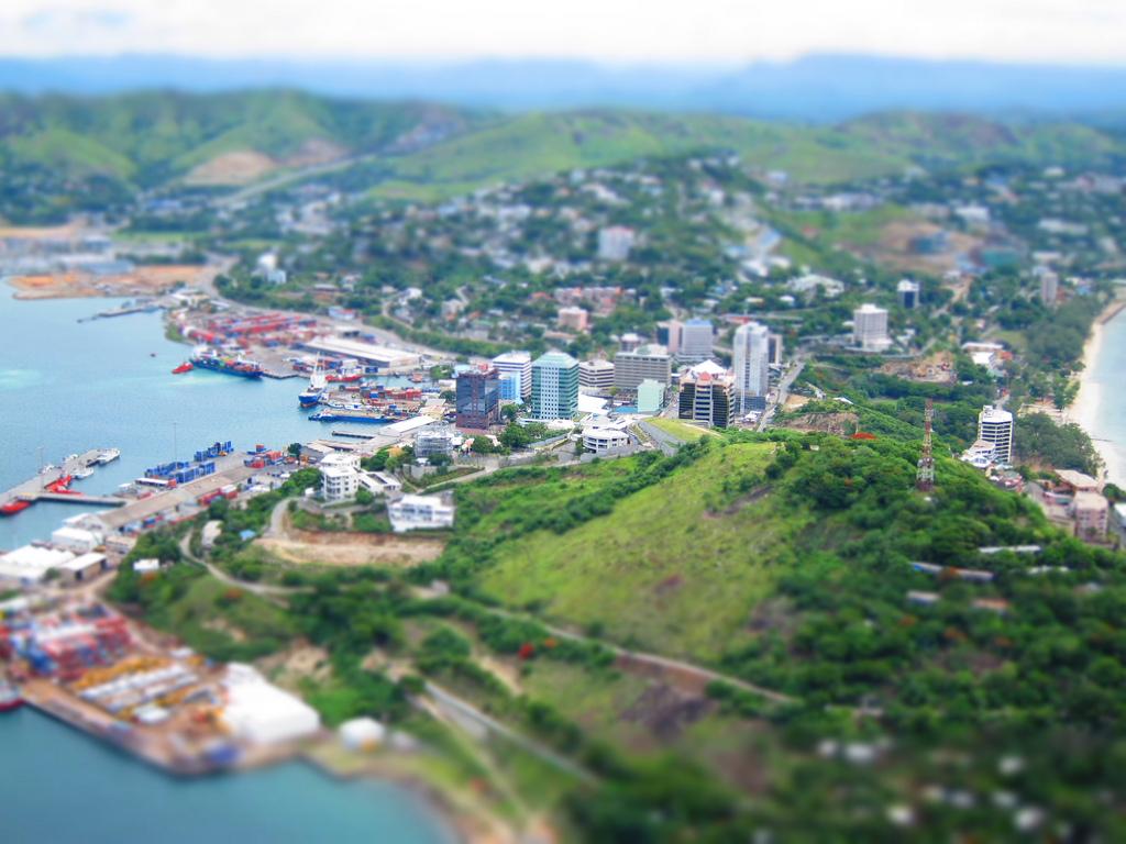 Port Moresby, capitale de la Papouasie-Nouvelle-Guinée