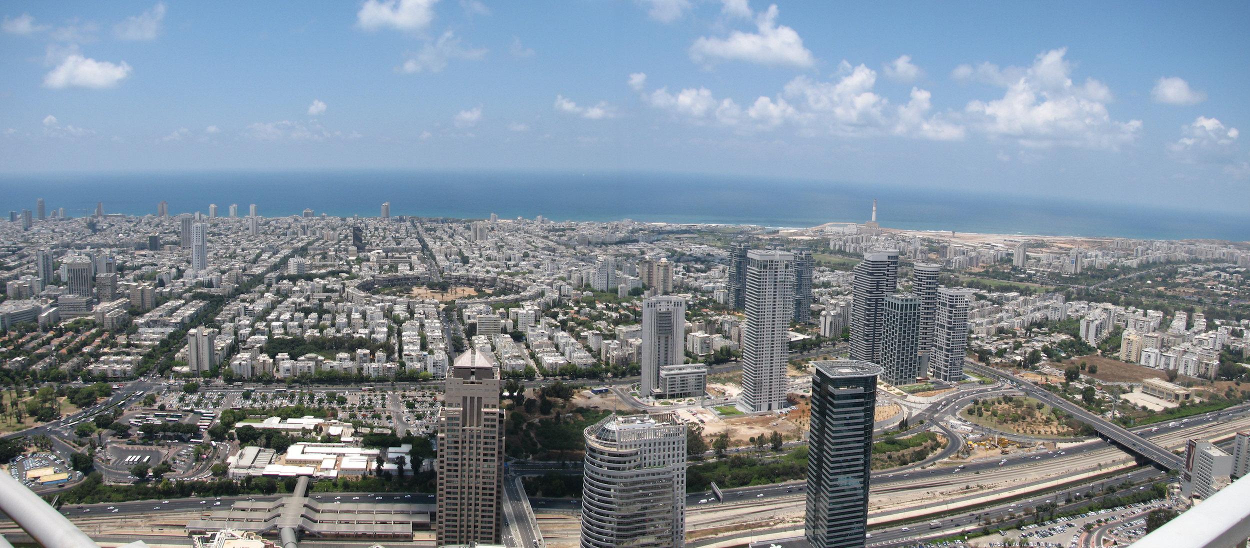 Panorama de Tel-Aviv, métropole économique d'Israël