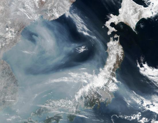 Nuage de pollution au-dessus de la mer du Japon