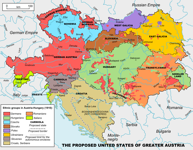 Carte Du Monde Hongrie.Autriche Hongrie Ethnies 1910 Carte Populationdata Net
