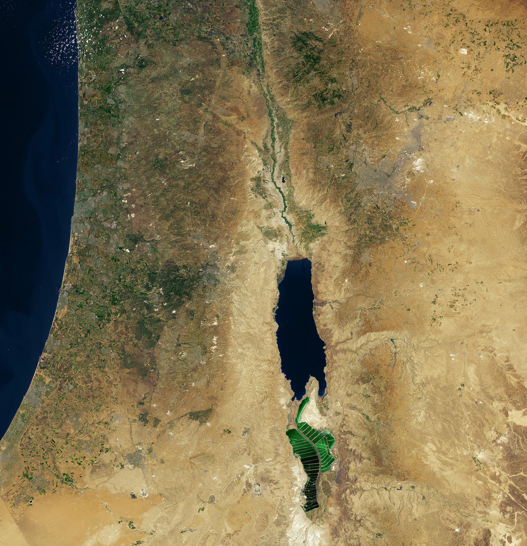 Mer Morte, Jordanie-Palestine-Israël