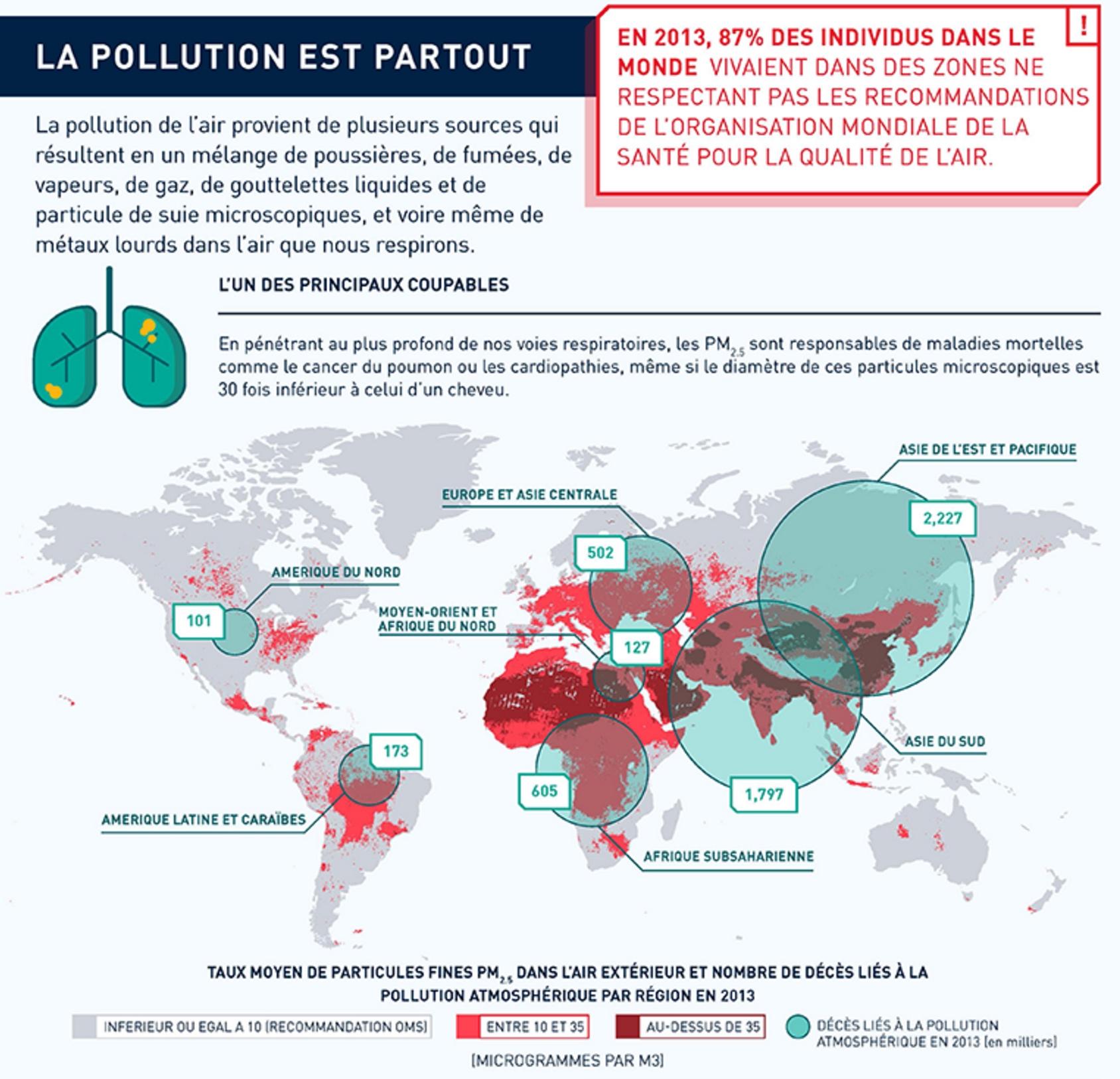 monde pollution de l 39 air 2013 carte. Black Bedroom Furniture Sets. Home Design Ideas