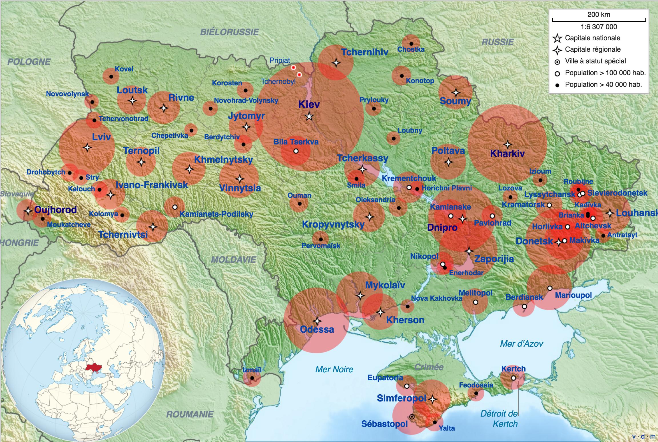 Villes En Europe Carte