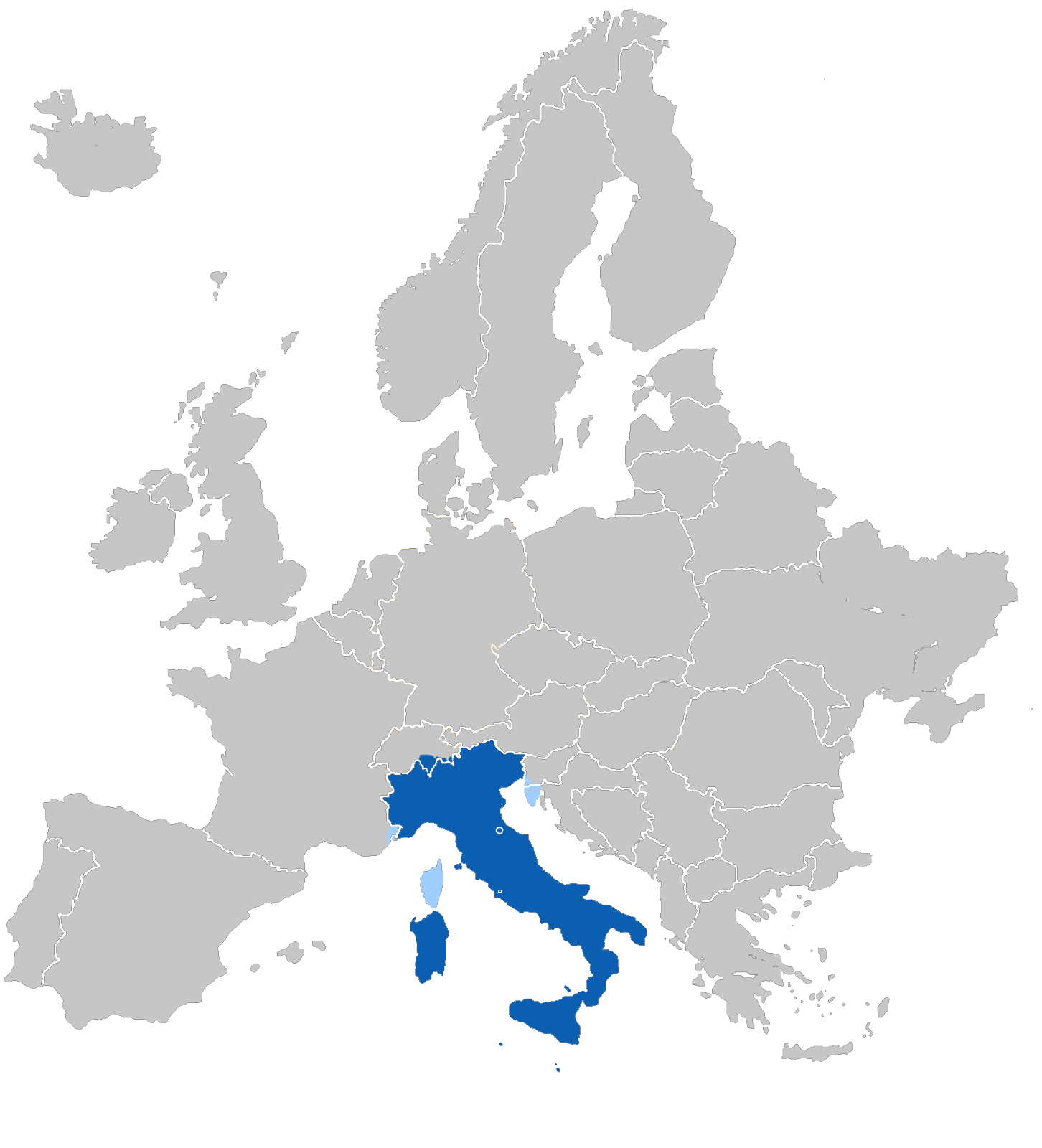 Carte Europe En Italien.Europe Italien Langue Carte Populationdata Net