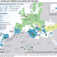 Europe – Migrations : morts (1993-2012)