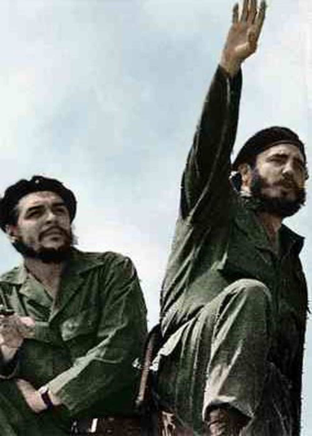 Che Guevara (gauche) et Fidel Castro en 1961