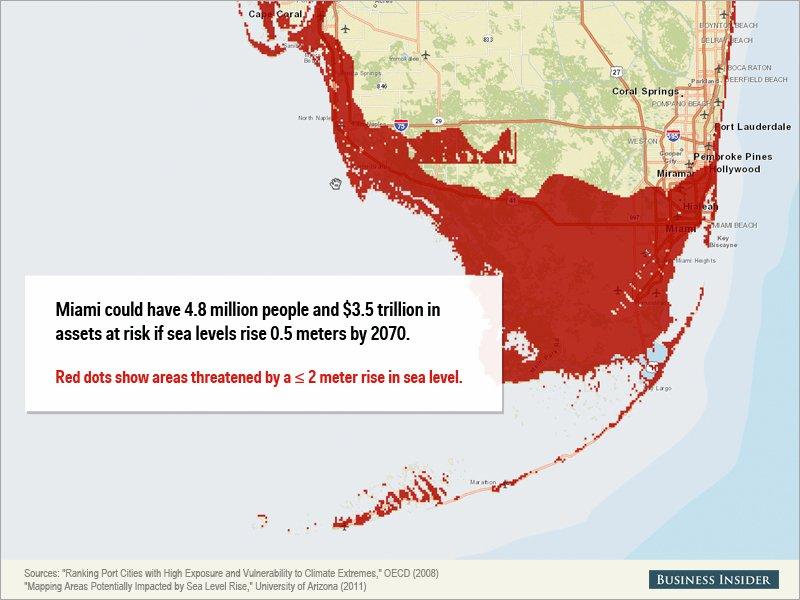 Montée des eaux - Miami, États-Unis