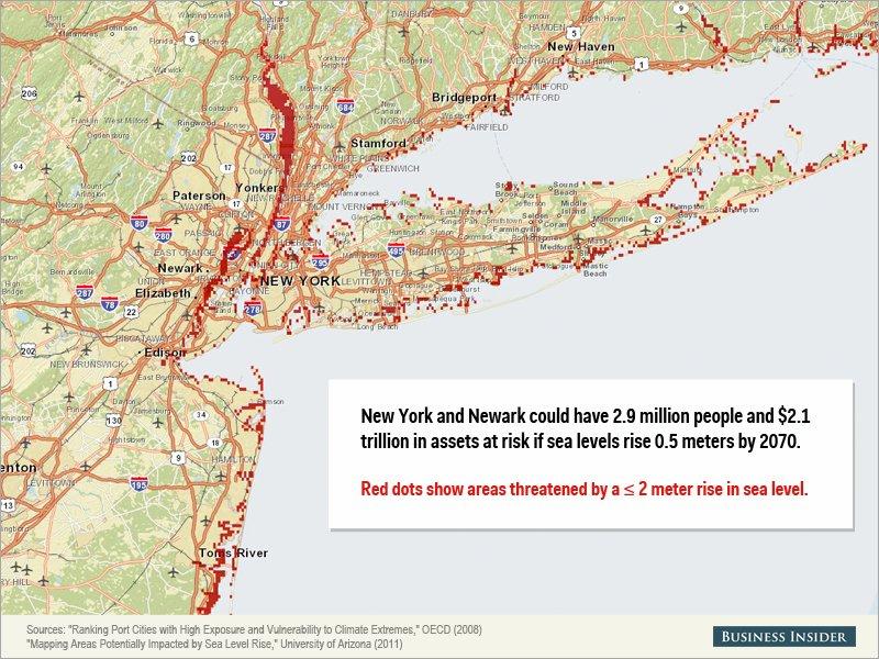 Montée des eaux - New York, États-Unis