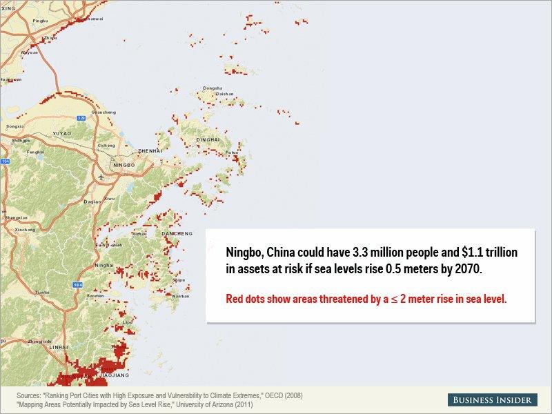 Montée des eaux - Ningbo, Chine