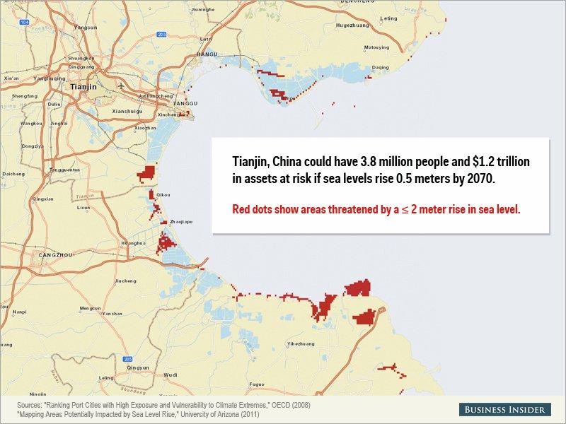 Montée des eaux - Tianjin, Chine