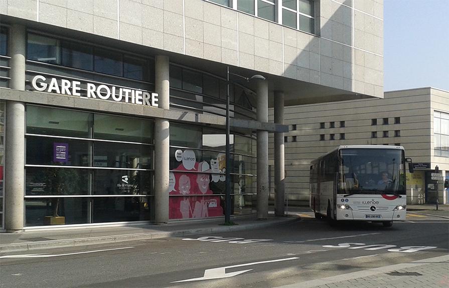 France - gare routière de Rennes