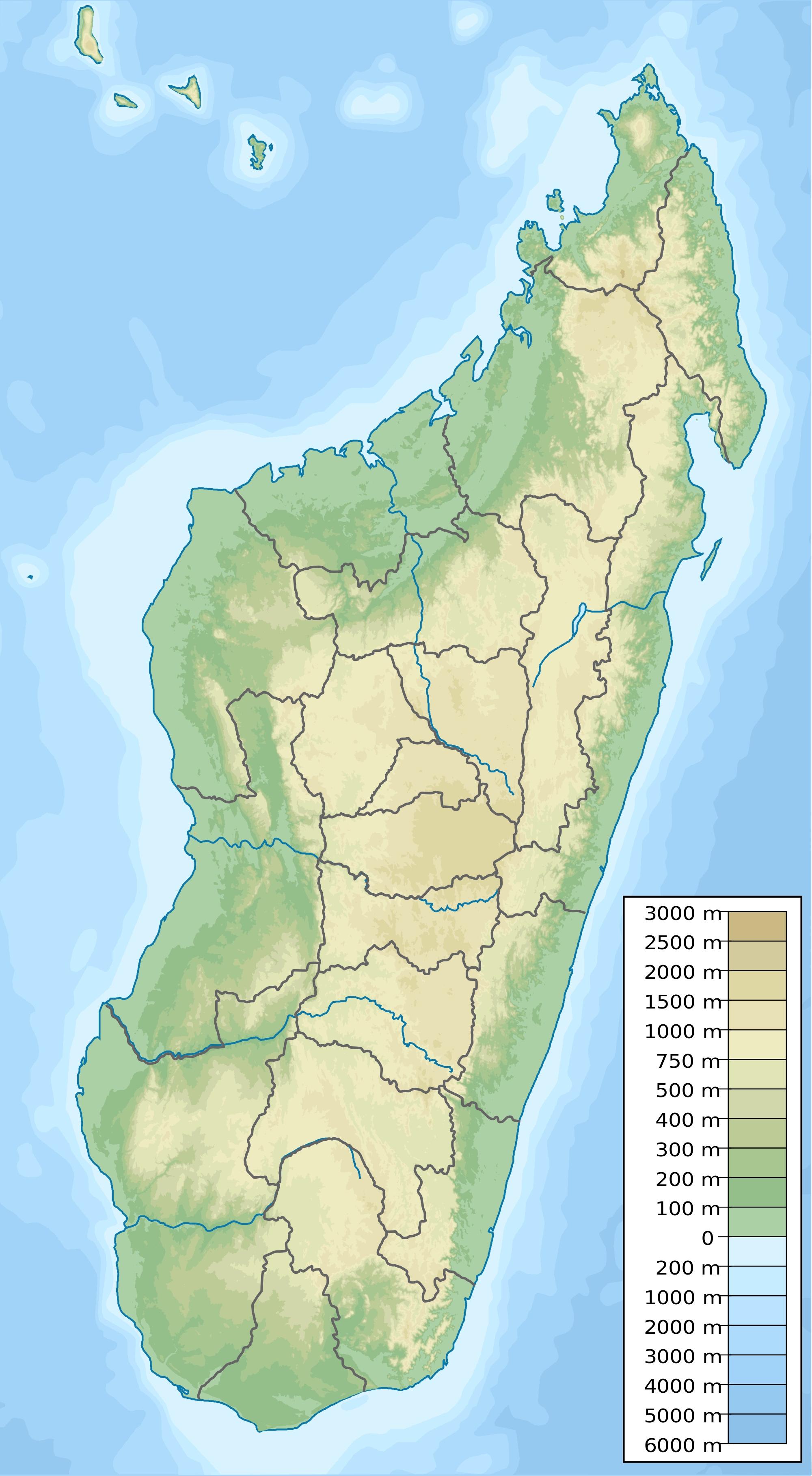 Carte Topographique De Madagascar.Madagascar Topographique Carte Populationdata Net