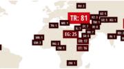 259 journalistes en prison dans le monde, un record