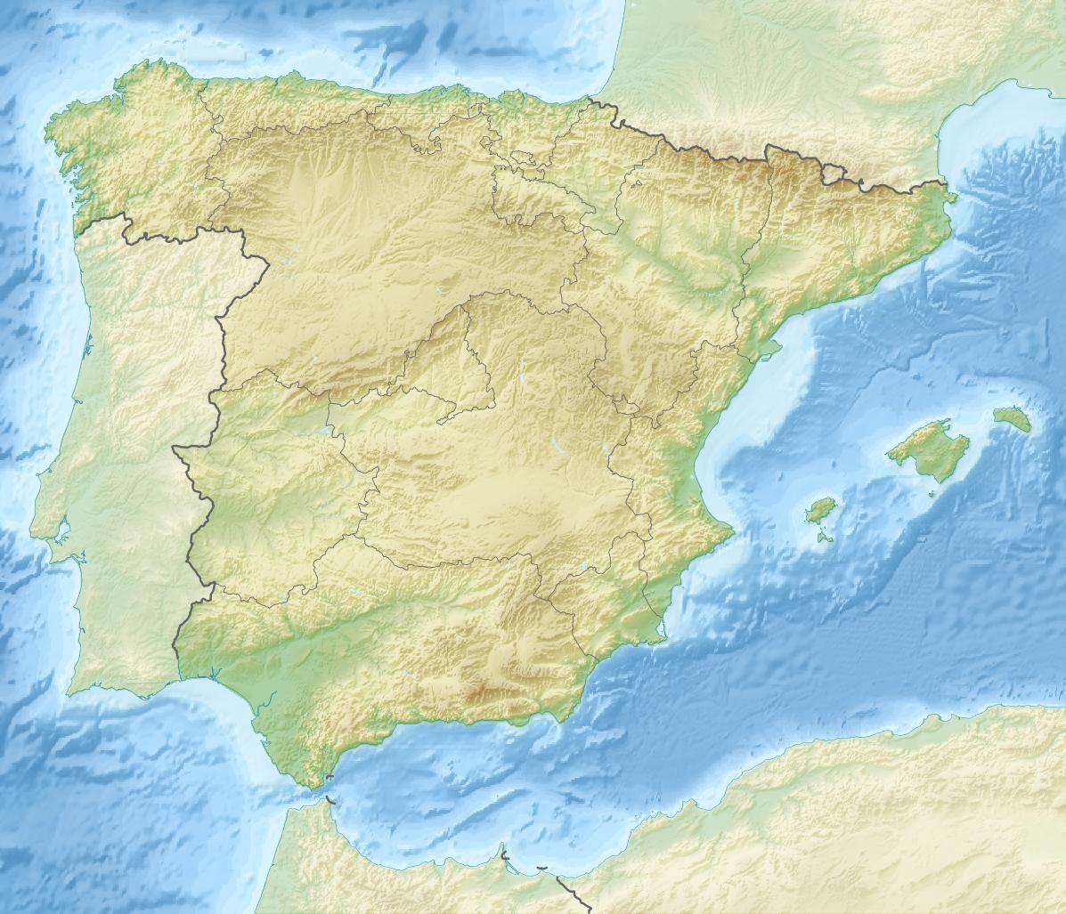 Carte Espagne Topographique.Espagne Topographique Carte Populationdata Net