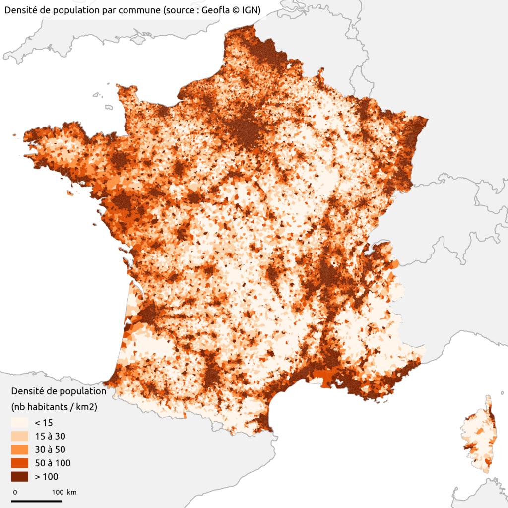 France - densité (communes)