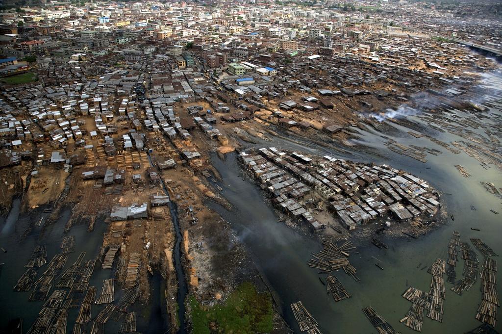 Bidonville marin, Lagos, Nigéria