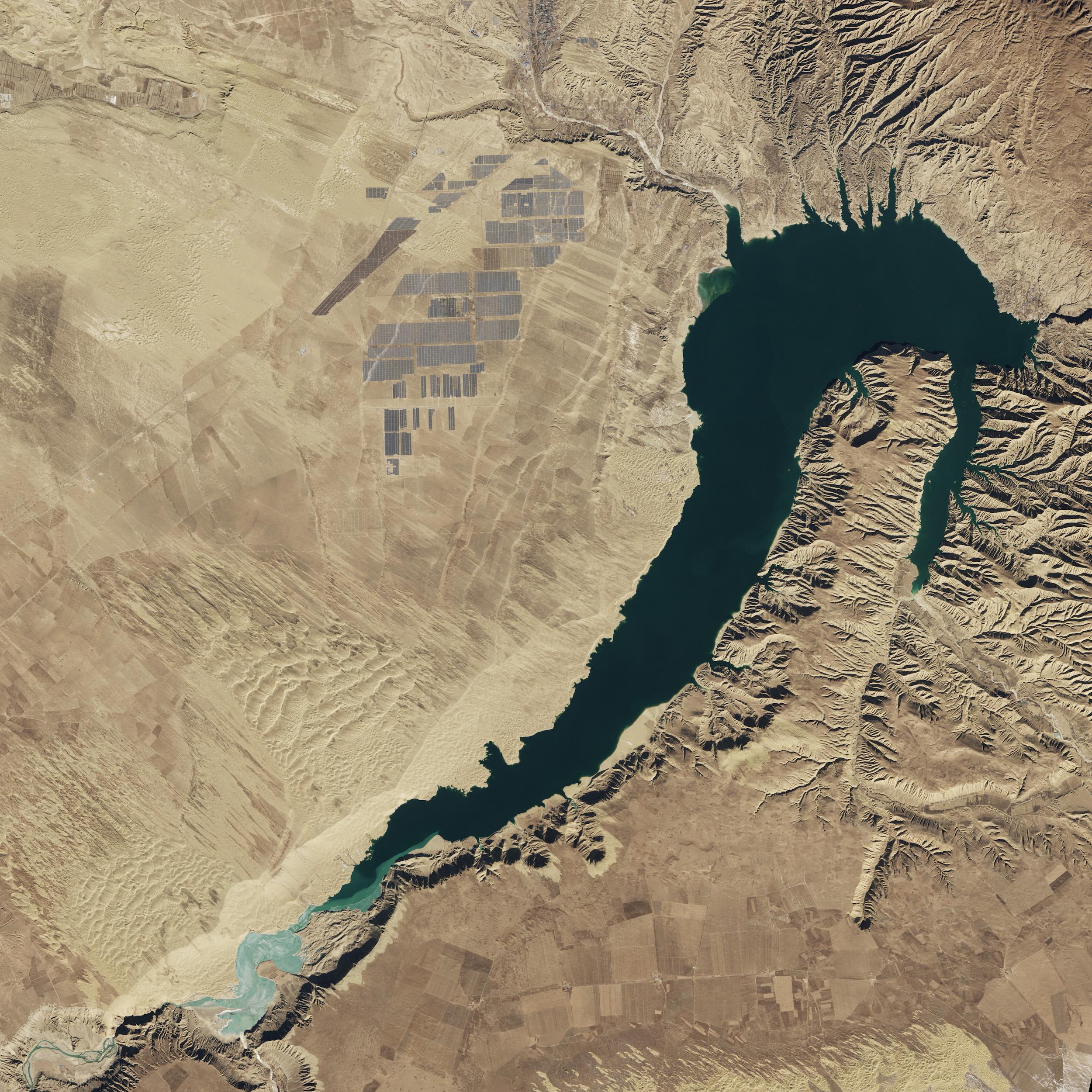 Ferme solaire Longyangxia Dam, Chine