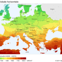 Europe – Irradiation solaire
