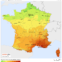France – irradiation solaire