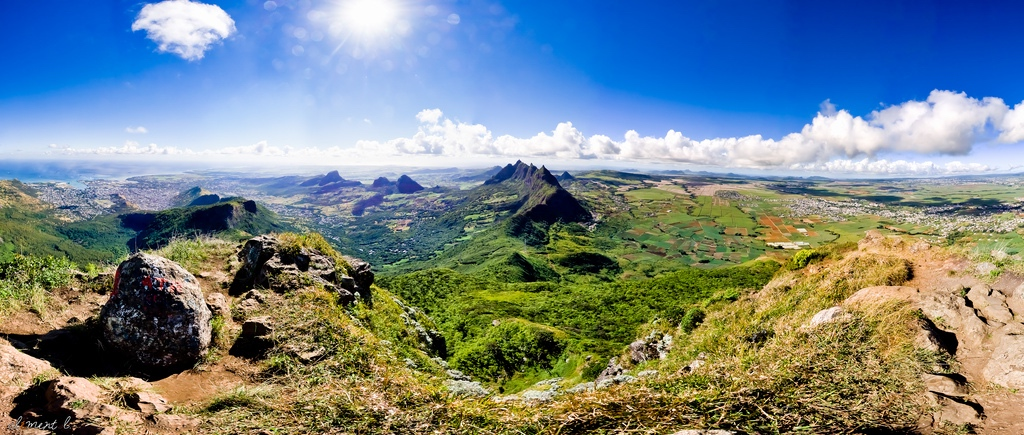 Panorama de l'île Maurice, vu depuis Le Pouce