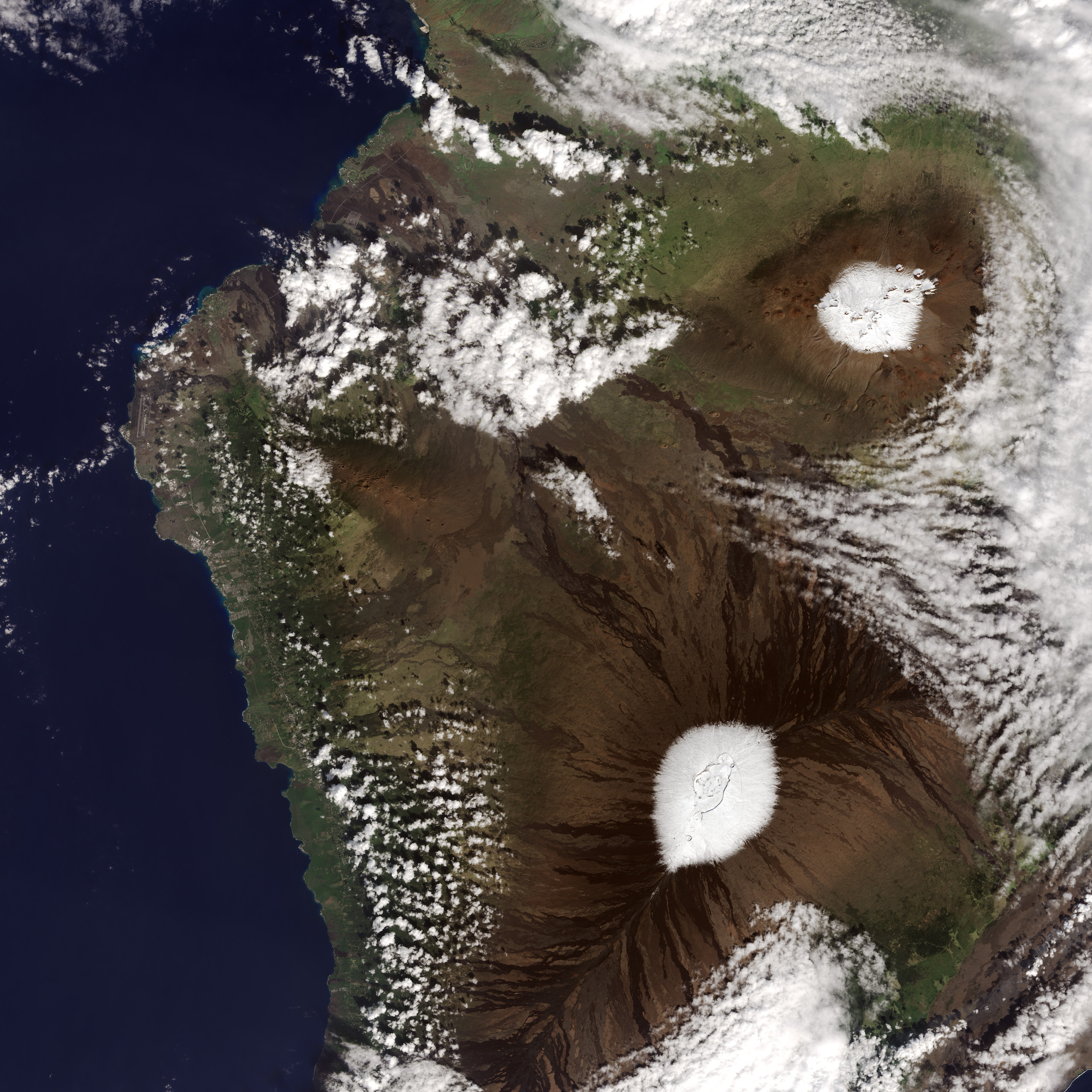 États-Unis - Hawaii : volcans sous la neige