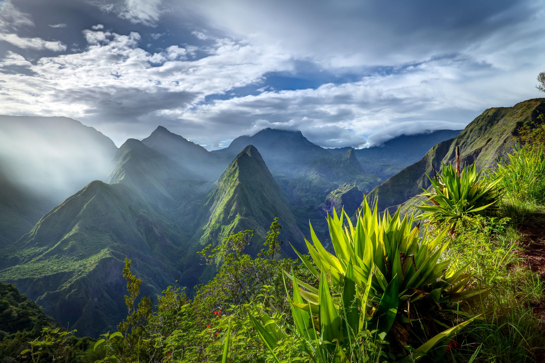 Paysage de l'intérieur de l'île de la Réunion