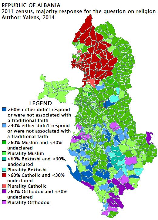 izquierda e islam - Página 2 Albanie-religions-2011