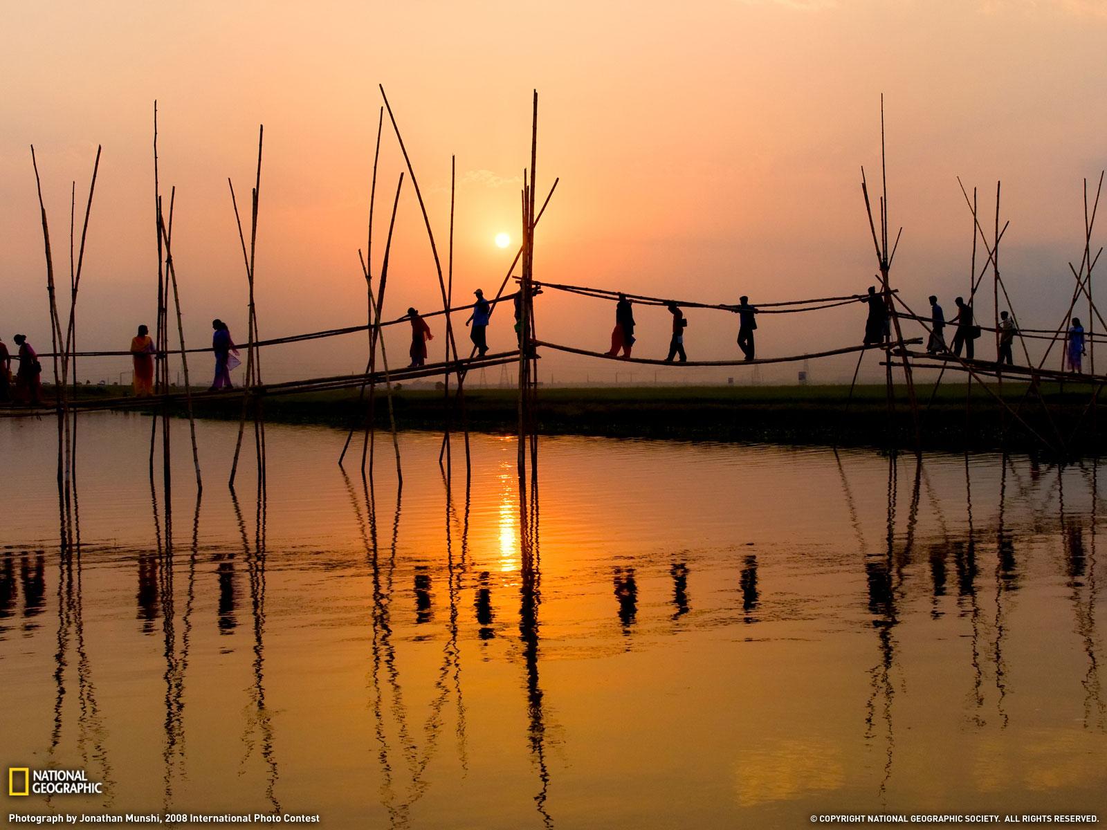 Pont piétonnier, Bangladesh