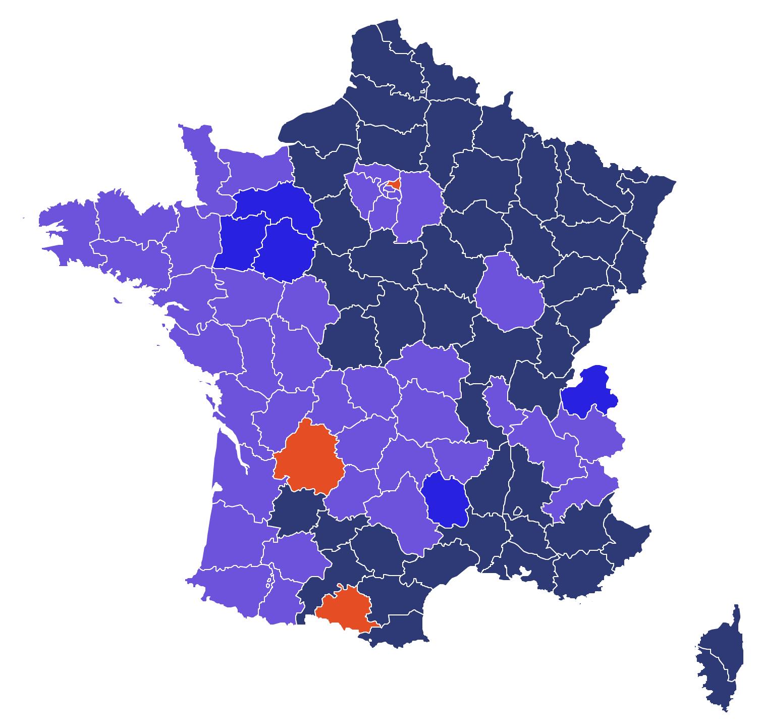 France - résultats du 1er tour de l'élection présidentielle 2017