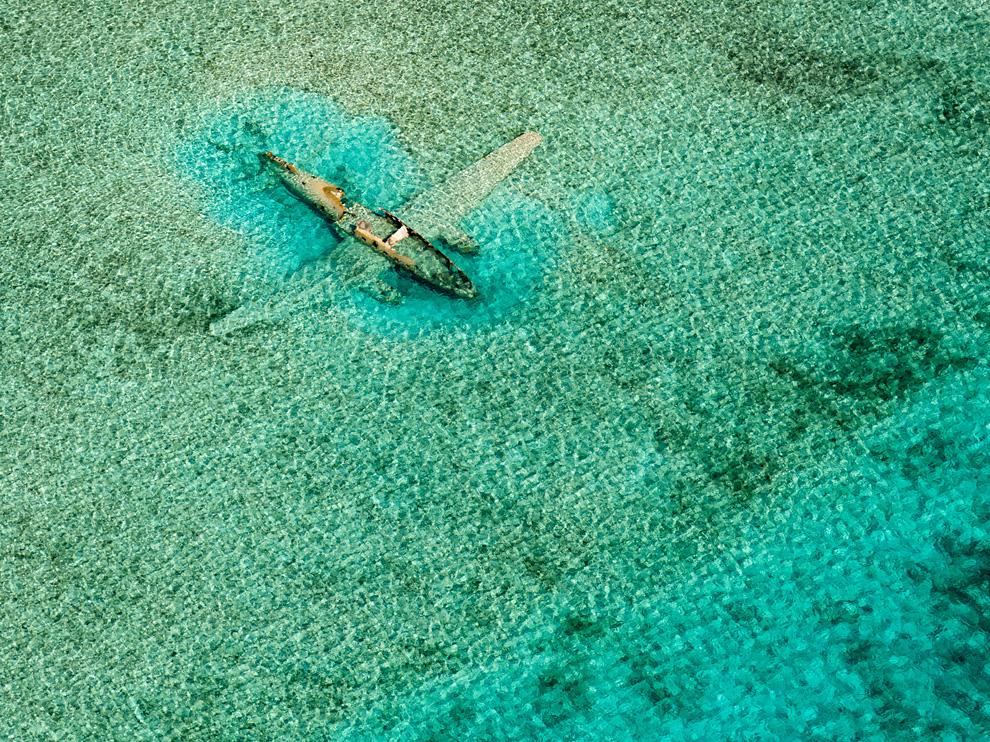 Bahamas - épave d'avion